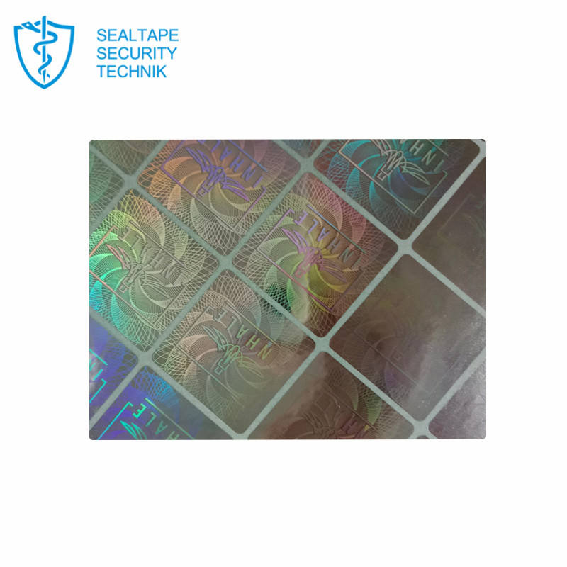 Custom Original Authentic Degree Certificate 3D Rainbow Tamper Proof Security Seal Hologram Stickers Label