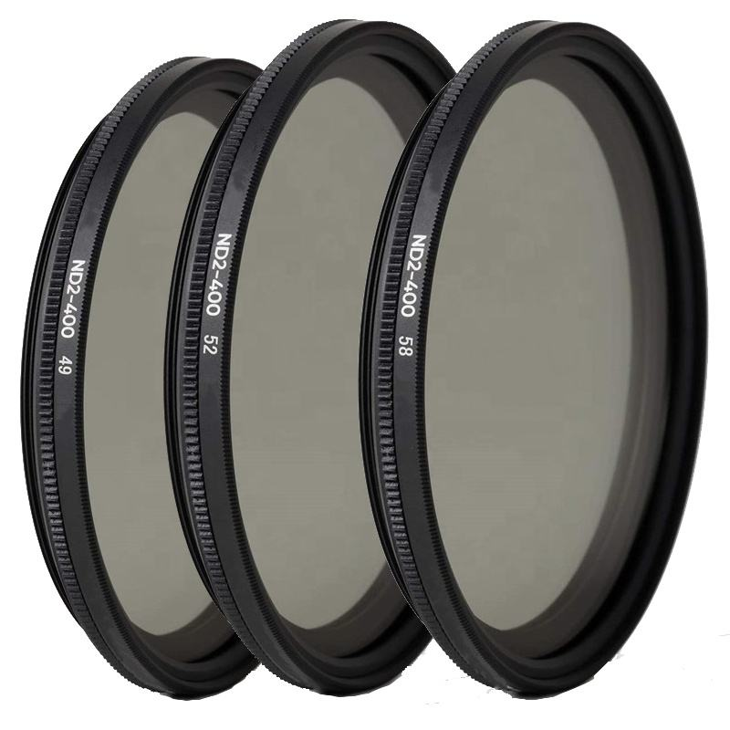 Profesional 49Mm 52Mm 58Mm Kepadatan Netral Slim HD Multi Dilapisi Polarizer Variabel ND2 untuk ND400 ND Filter Lensa Kamera