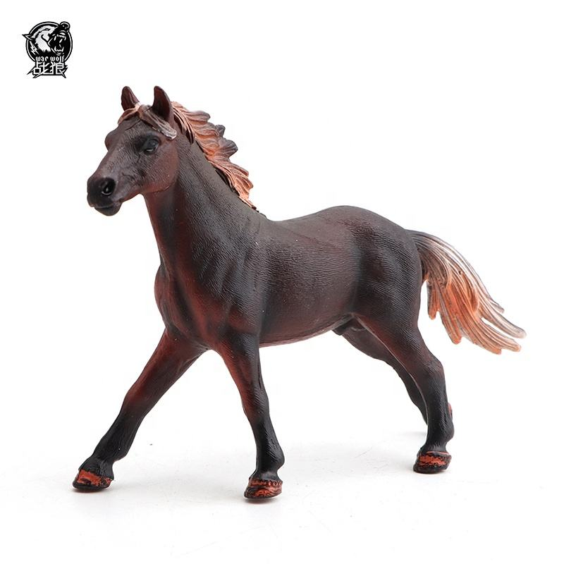 Environmental protection simulation solid pvc plastic toy horse for decoration