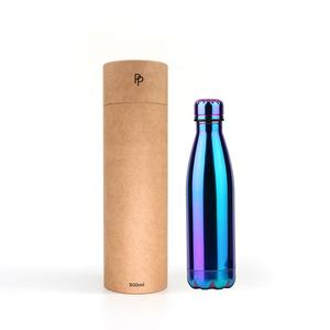 Corrugated Cylinder Kraft Paperboard Carton Round Paper Tube for Water Bottles