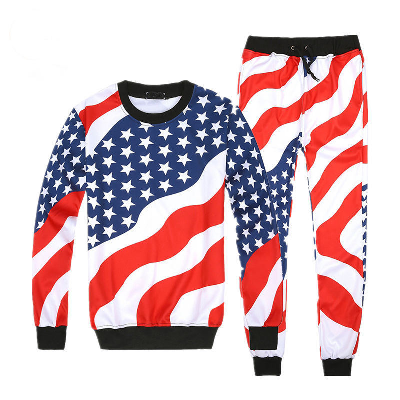 Jogging Wear / Fashionable Flag design sublimation Tracksuit