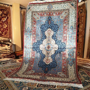 Free Shipping to Europe and USA hand knotted silk carpets and rugs for wall hanging