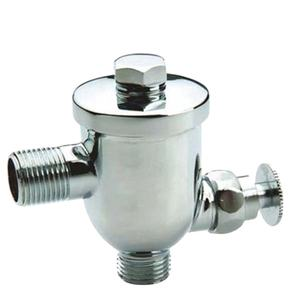 Chrome finish dan dinding kuningan self closing urinal flush Valve katup air untuk urinal