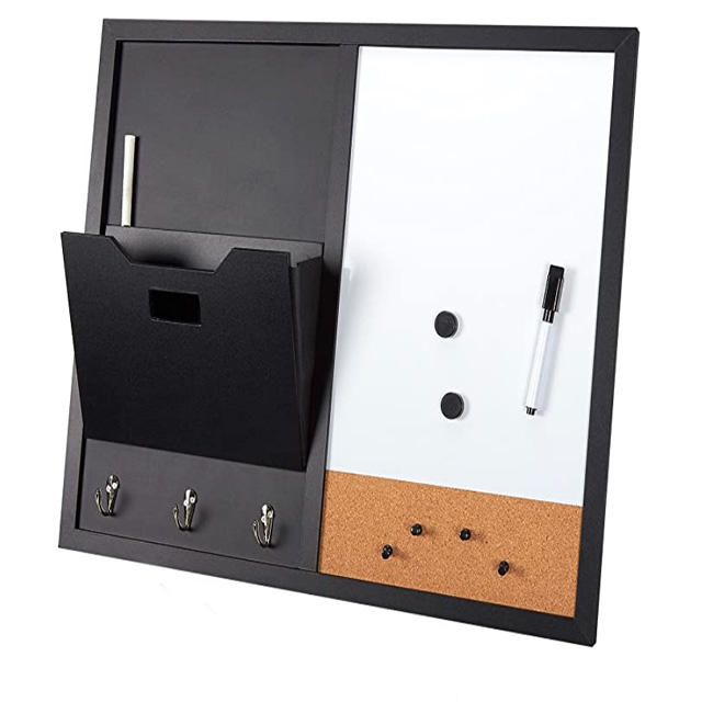 3 in 1 custom Combination Cork board Magnetic Whiteboard blackboard with Frame