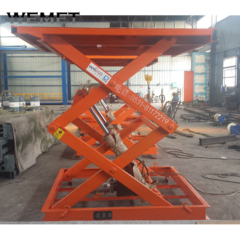 Wemet Portable cargo lift platform Scissor Hoist Car lift
