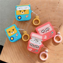 for Airpods Pro 1 2 Free Shipping Cute Bear Ryan Peach Lovely Bluetooth Earphone Soft Case