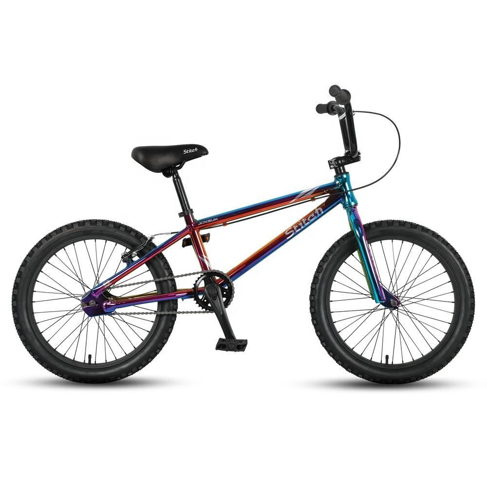 JOYKIE custom plating color bmx bike bicycle,bicicleta bmx bike 20 inch freestyle bicycle
