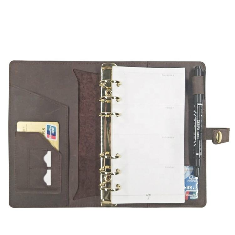 Supplier Customized Logo School Leather Travel Cute Diary Planner Notebook