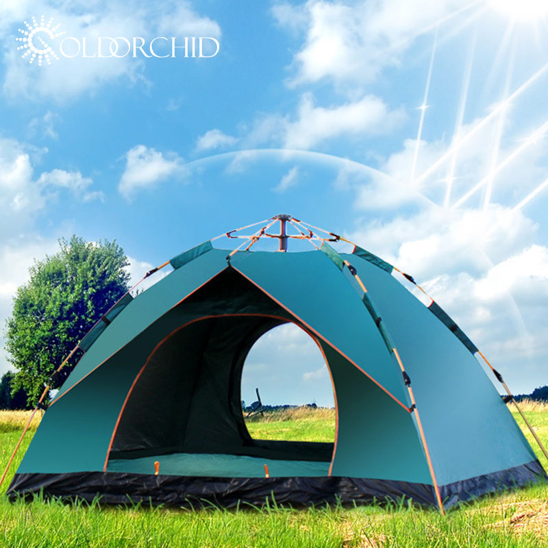 High quality outdoor waterproof 3-4 person camping equipment tent