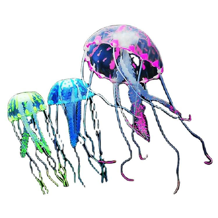Small environmentally friendly silicone simulation jellyfish used in fish tank landscaping decoration