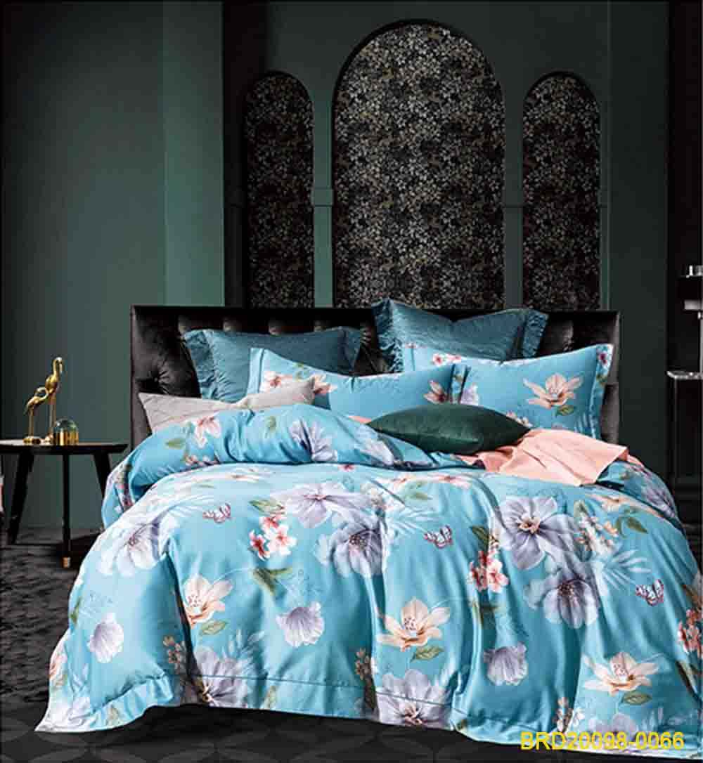 Egyptian Luxury Cotton Bed Sheets Bedding Sets Adults Wedding Flower Printed Duvet Cover Set