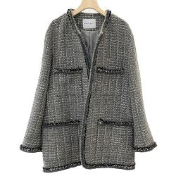 South Korea spring and autumn new style jacket coat tweed jacket coat