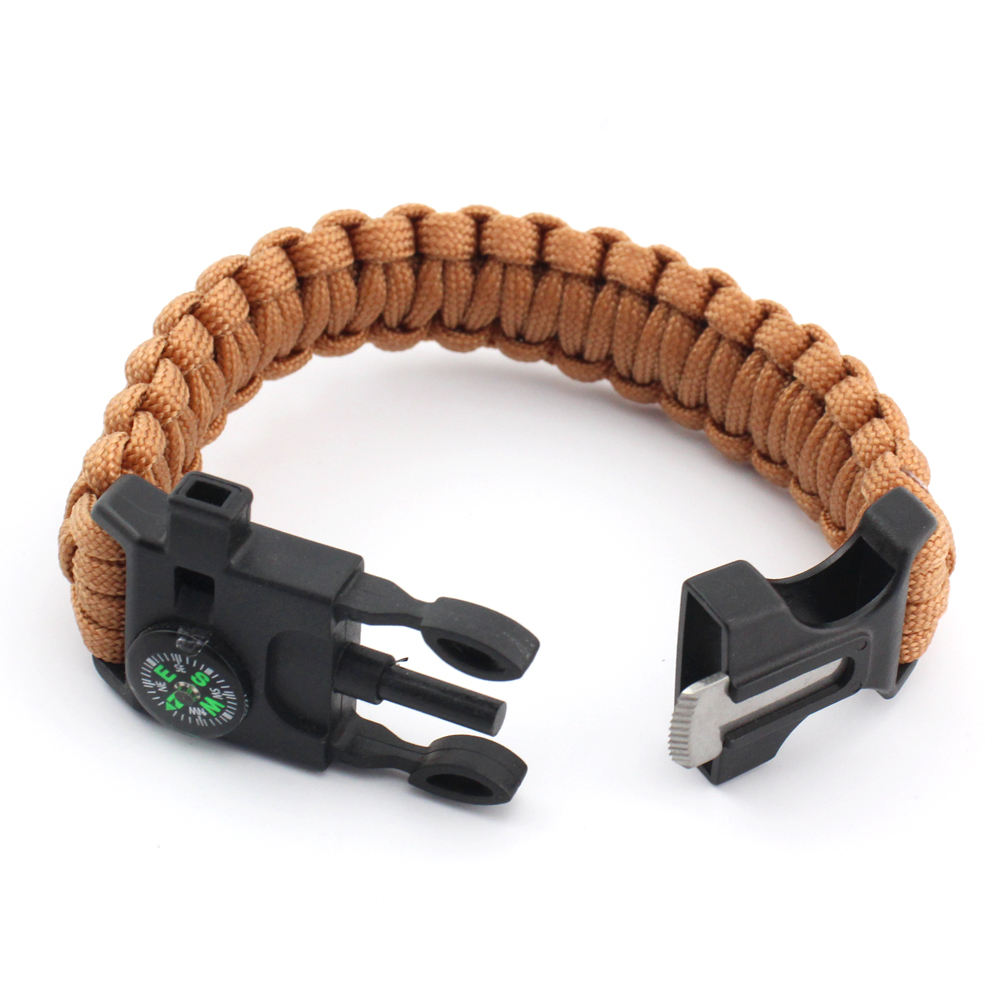 Wholesale Factory Price Survival Bracelet Strap With Compass