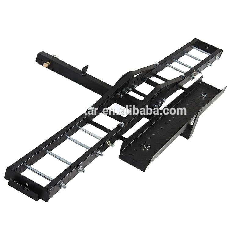 Factory directly sell steel child scooter dual double motorbike motorcycle hitch carrier mount ramp rack