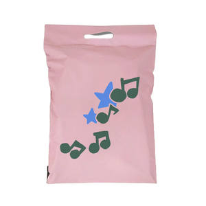 Recyclable large size poly mailer with handle shipping bag