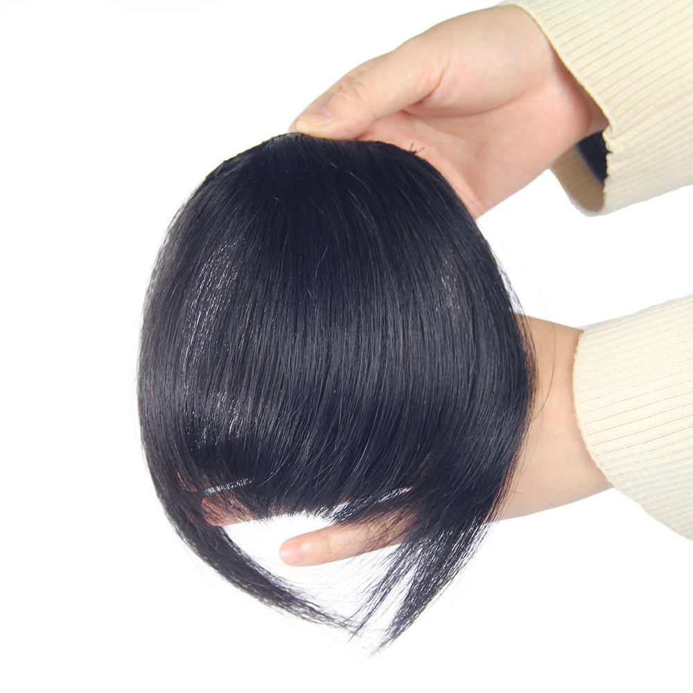 Colored clip in human hair bangs, Brazilian human hair fringes for women