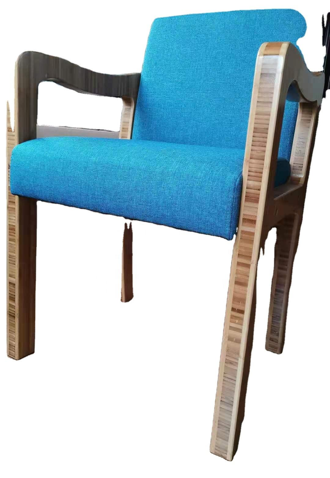 Pure Natural Bamboo Made Simple Dafang Custom Bamboo Single Sofa Chair For Office Home
