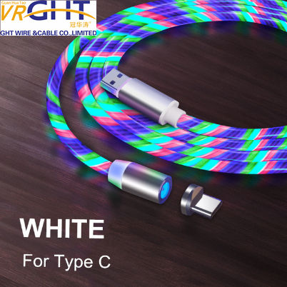 Hotsale Wholesale LED magnetic cable for Phone/Data/Computer 3 in 1 USB charging USB Cable