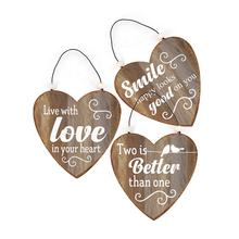 Customized  Metal Hanging  Plaque  Heart shape Metal Hanging Signs