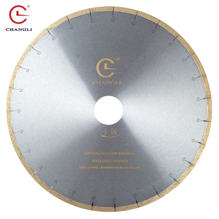 Changli 14inch 350mm fishhook teeth 40*2.6*8mm 50mm inner hole marble saw blades
