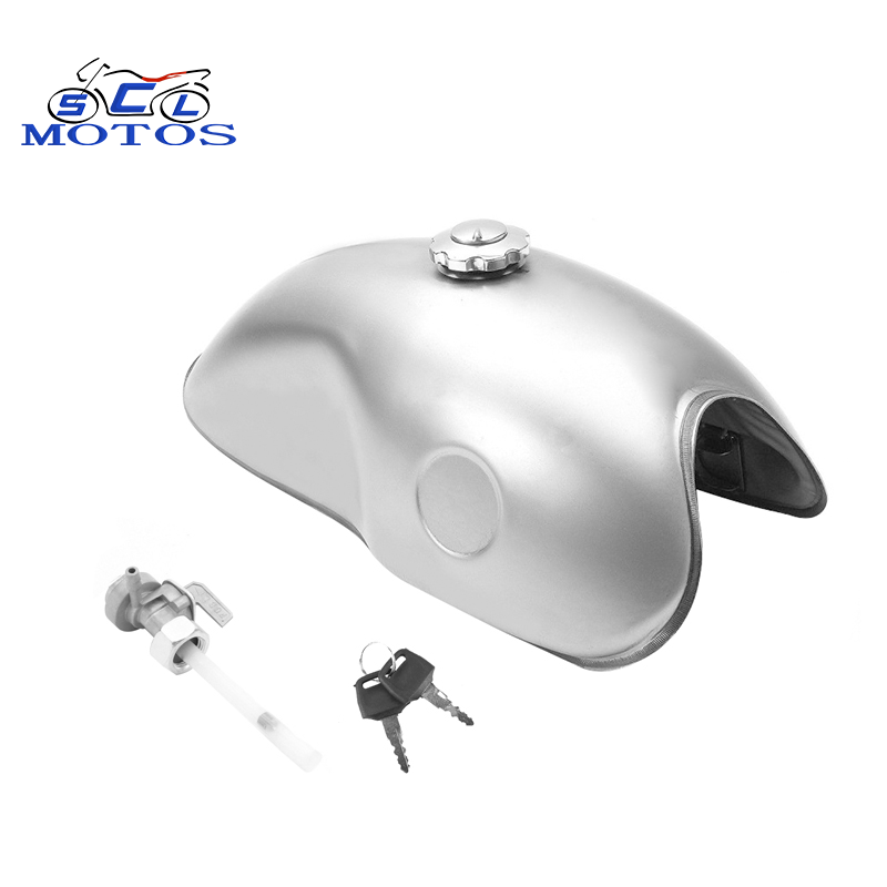 10L 2.6 Gal Universal Retro Cafe Racer Tank Motorcycle Unpainted Modified Fuel Tank For XJR750 CB200 CB400 XJR400 BENELLI MOJAVE