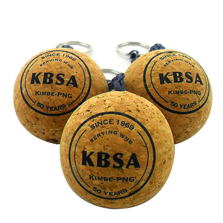 Floating Key Chain Manufacturer 35mm For 50mm Personalized Gift Craft Wood Custom Floating Cork Keychain