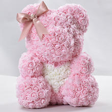 40cm Factory Supply Wholesale Decorative PE Foam Teddy Rose Bear for Celebration Wedding Valantine's Day Girlfriend Gift