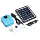 Outdoor Portable Solar Oxygen Air Pump with Rechargeable battery Air Aerator Compressor Kit