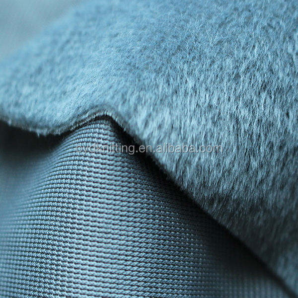 Grey Color 1mm/2.5mm Faux Fur Garment Plush Velboa Lining/Chair Seat Cover Material Short Pile Velboa
