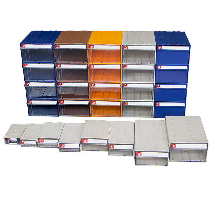 Factory competitive price warehouse garage workbench hardware tool parts drawers plastic storage cabinet