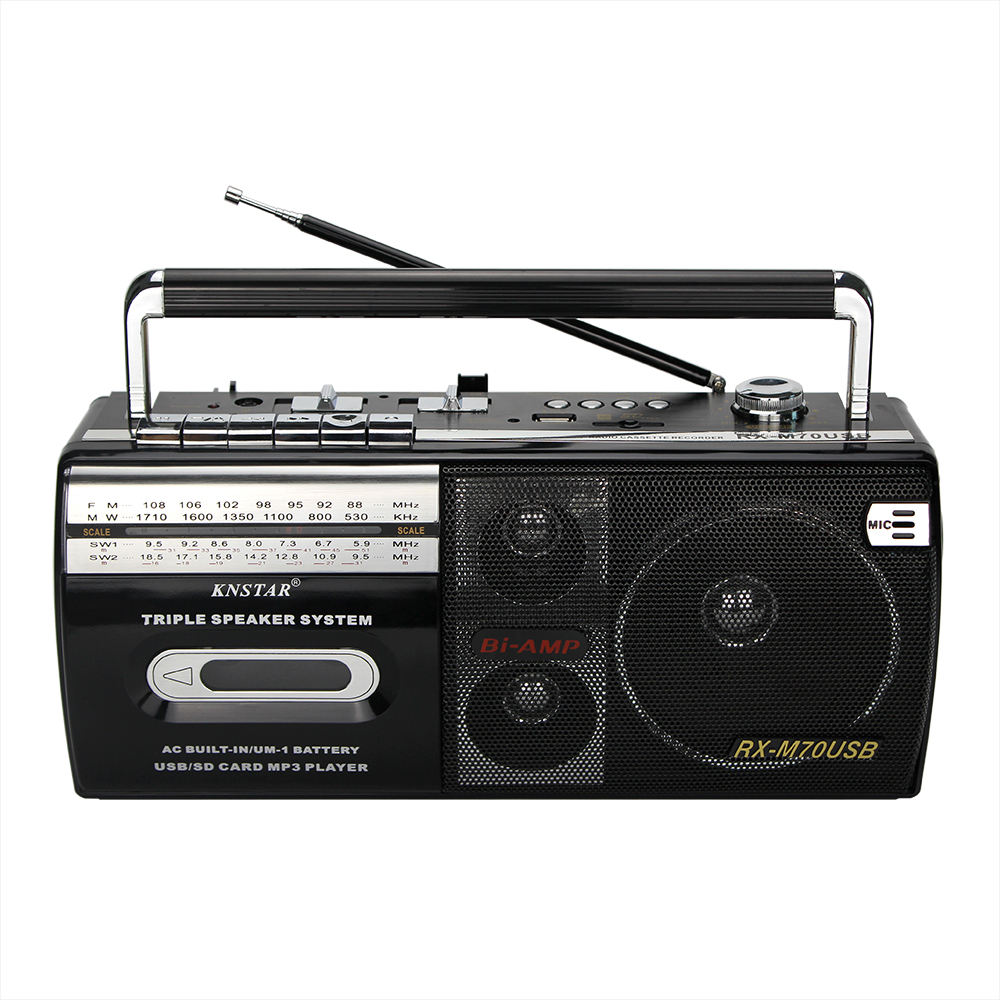 2020 portable cassette recorder player AC DC radio USB SD mp3 player RX-M70USB