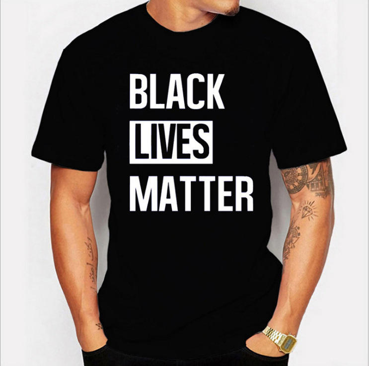 100% Cotton Unisex T Shirt Tee Custom Printing Black Lives Matter I Can't Breathe T-shirt Summer Casual White Black T-Shirts
