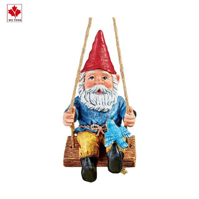 "Collecties Etc Decoratieve Opknoping Tuin <span class=keywords><strong>Gnome</strong></span> Op Swing Gazon Standbeeld Yard & Tuin Decor 4.75 ""L X 7"" W X 8 ""H"