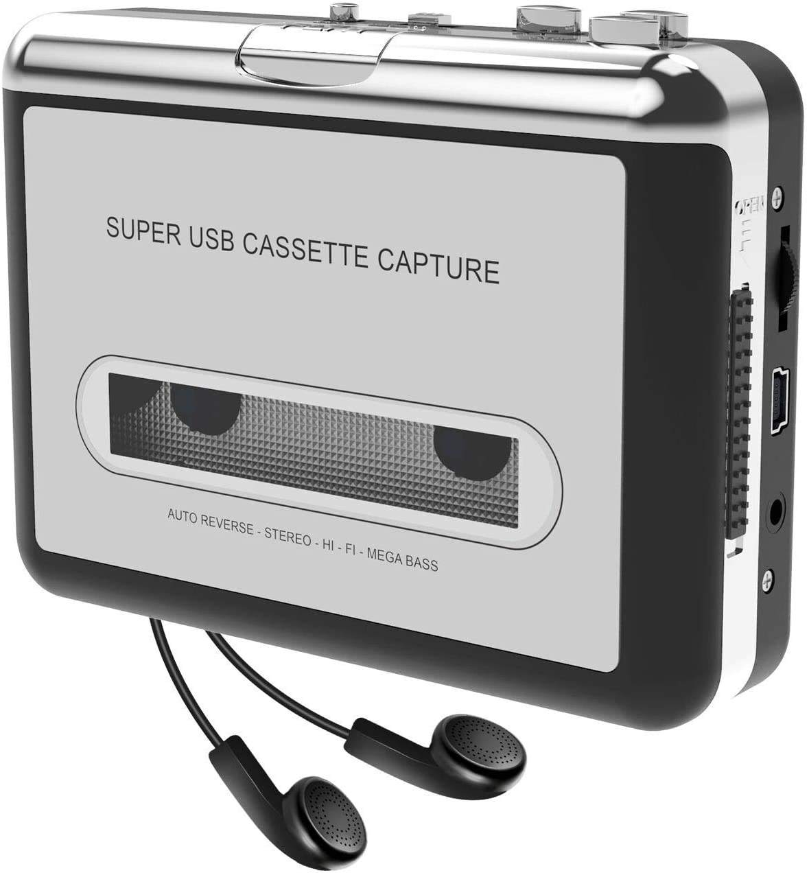 Convertisseur USB pour Mini Cassette MP3 CD, dispositif à capture, alimenté par batterie ou par USB, fonctionne comme un baladeur