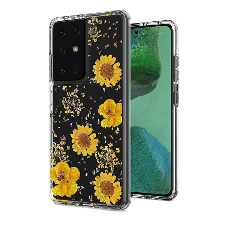 2020 New Arrival Transparent Phone Cover Custom Flower Phone Case For Samsung S30 Ultra Plus