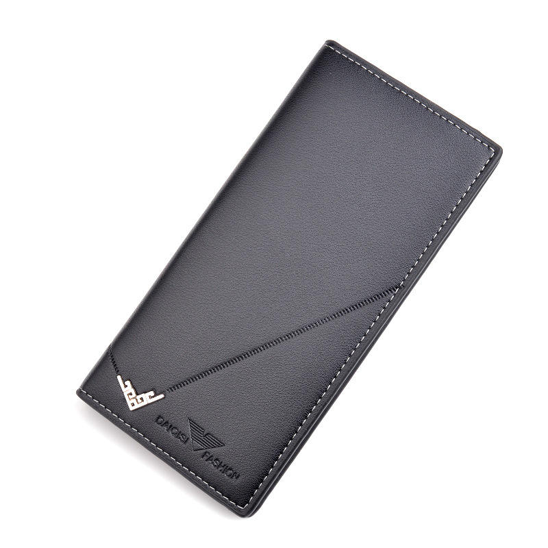 New Fashion PU Leather Long Section Multiple Card Slots Thin Suit Wallet For Men,Male Card Holder Case Coin Purse Wholesale