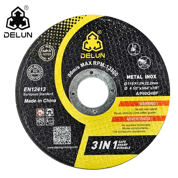 115mm 4 1/2 4.5inch DELUN metal inox stainless grinding stone abrasive tools abrasivos cutting disc cutting wheel disco de corte