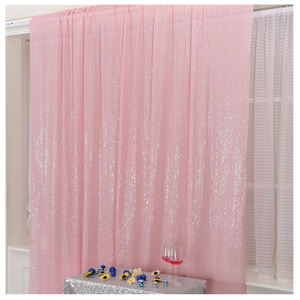 Latest Fashionable Adjustable 2ft X 8ft Pink Drape Sequin Curtain Backdrops