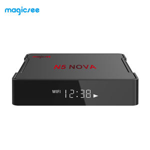 Magicsee N5 NOVA Großhandel Android DDR 2G lan 100M 2g 16g anycast internet streaming hause tvbox rk3318