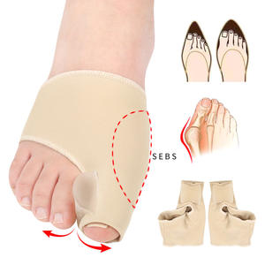 unisex lycra hallux valgus foot care big toe orthotic gel sebs toe separator sleeves sock for bunions