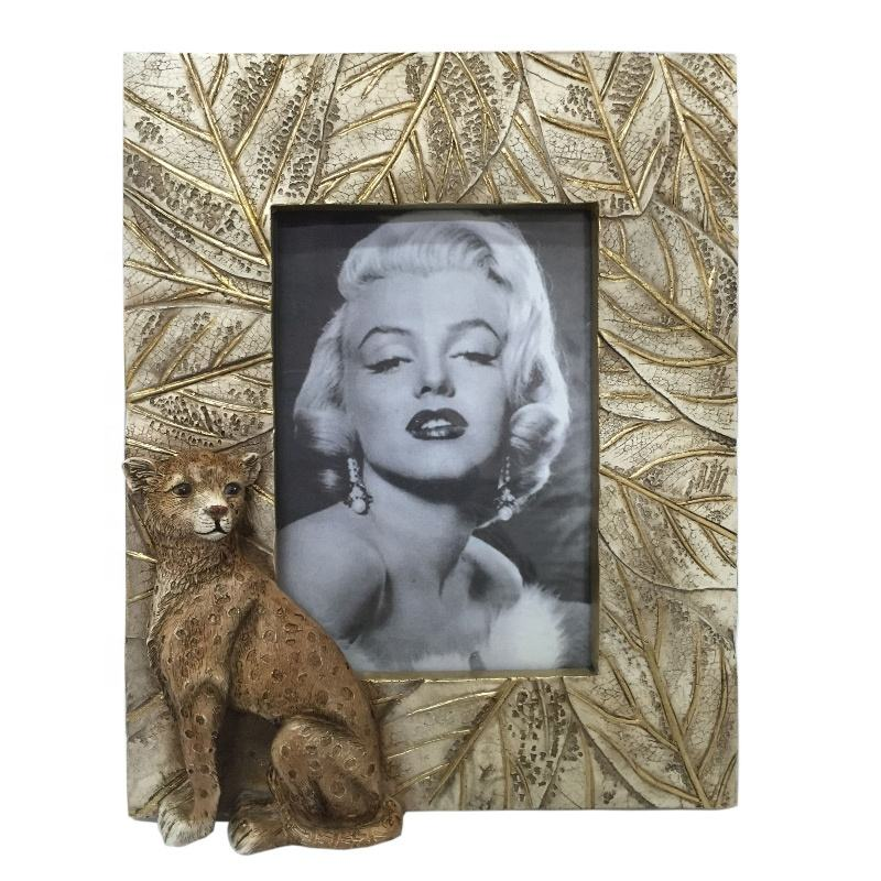 Resin picture Photo Frames, polyresin frame, Metal effects photo frame