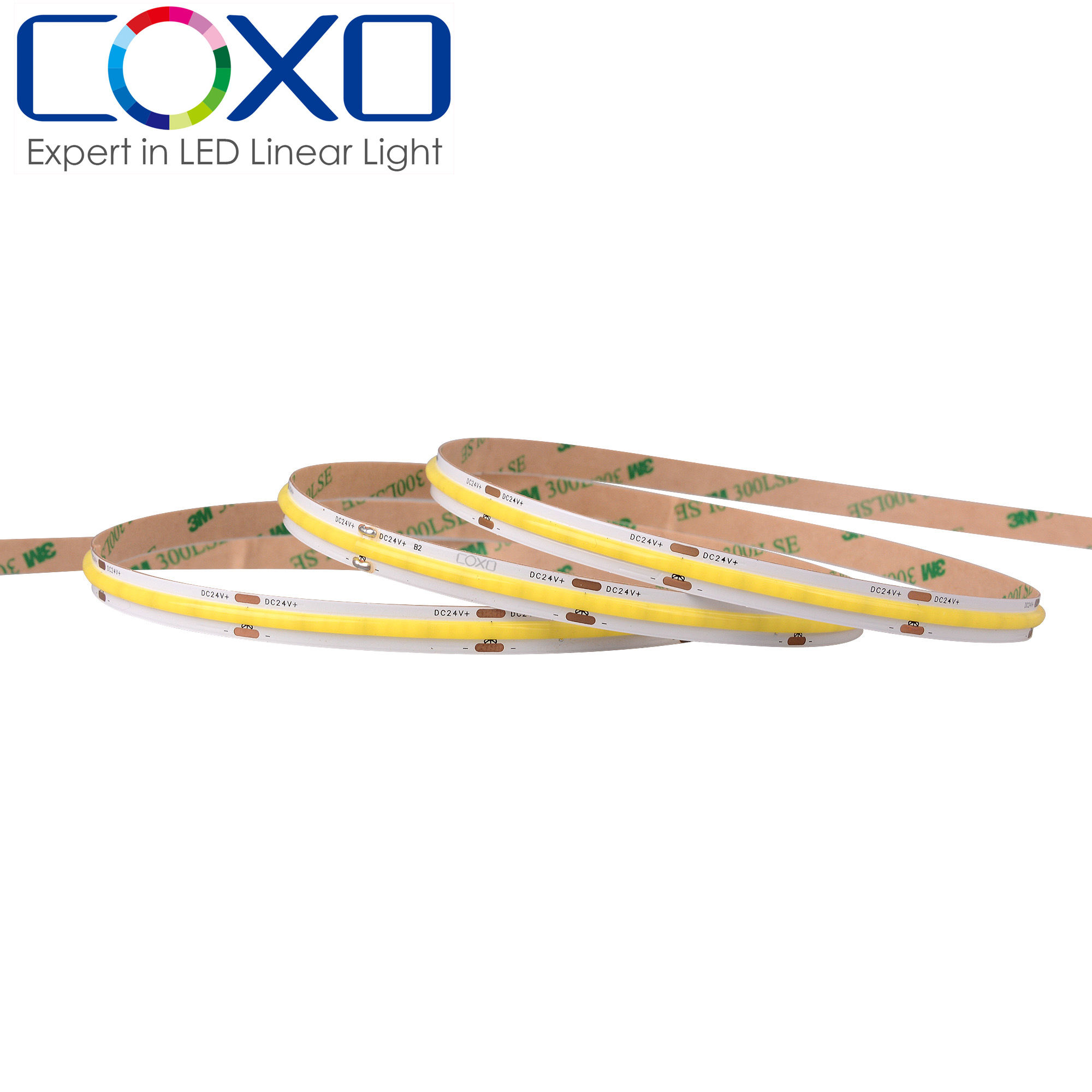 Tira de luces led COB para el hogar, flexible, impermeable, IP67, 12v, 24v