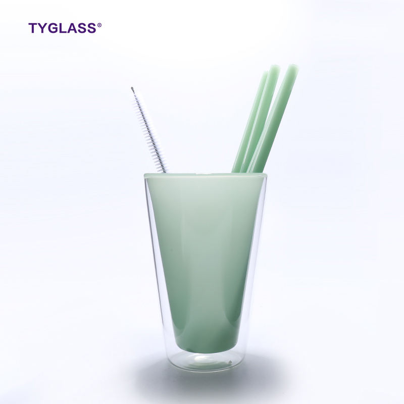 Guaranteed Quality new color ECO reusable pyrex coloured glass drinking straws