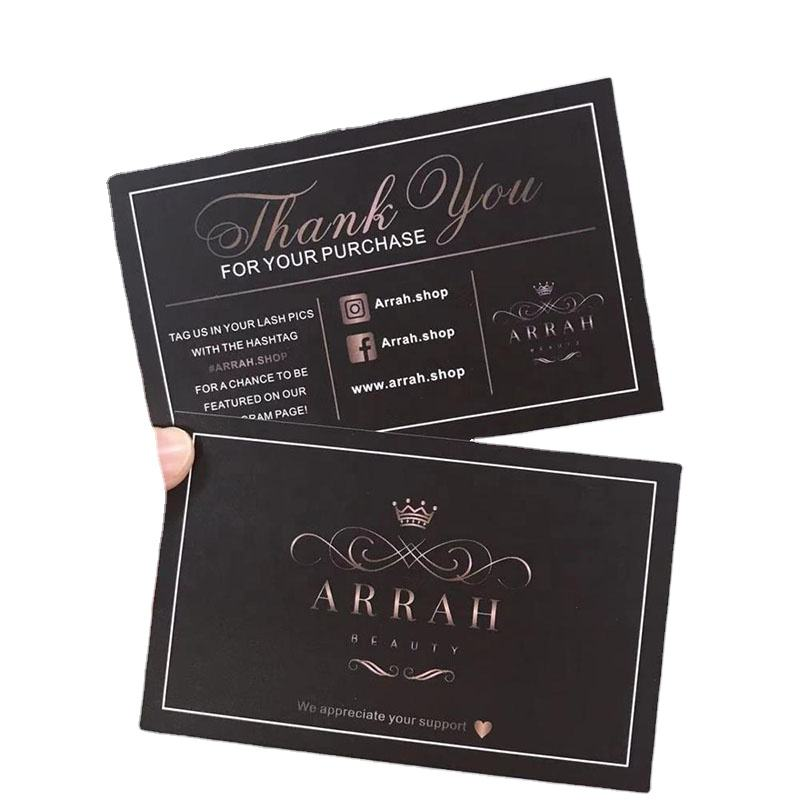 Customized colorful pvc thank you card/invitation card/gift card