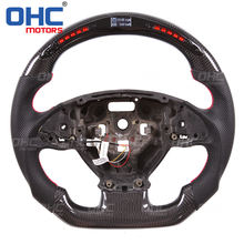 LED Carbon Fiber Steering Wheel Compatible with Chevrolet Camaro OHC MOTORS