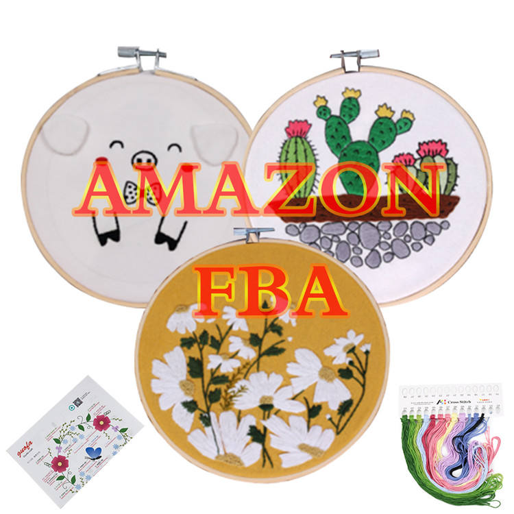 Amazon Best Seller Cross Stitch Tool Beginner Kit Creative Patterns DIY Hand Made Punch Needle Embroidery Starter Kits