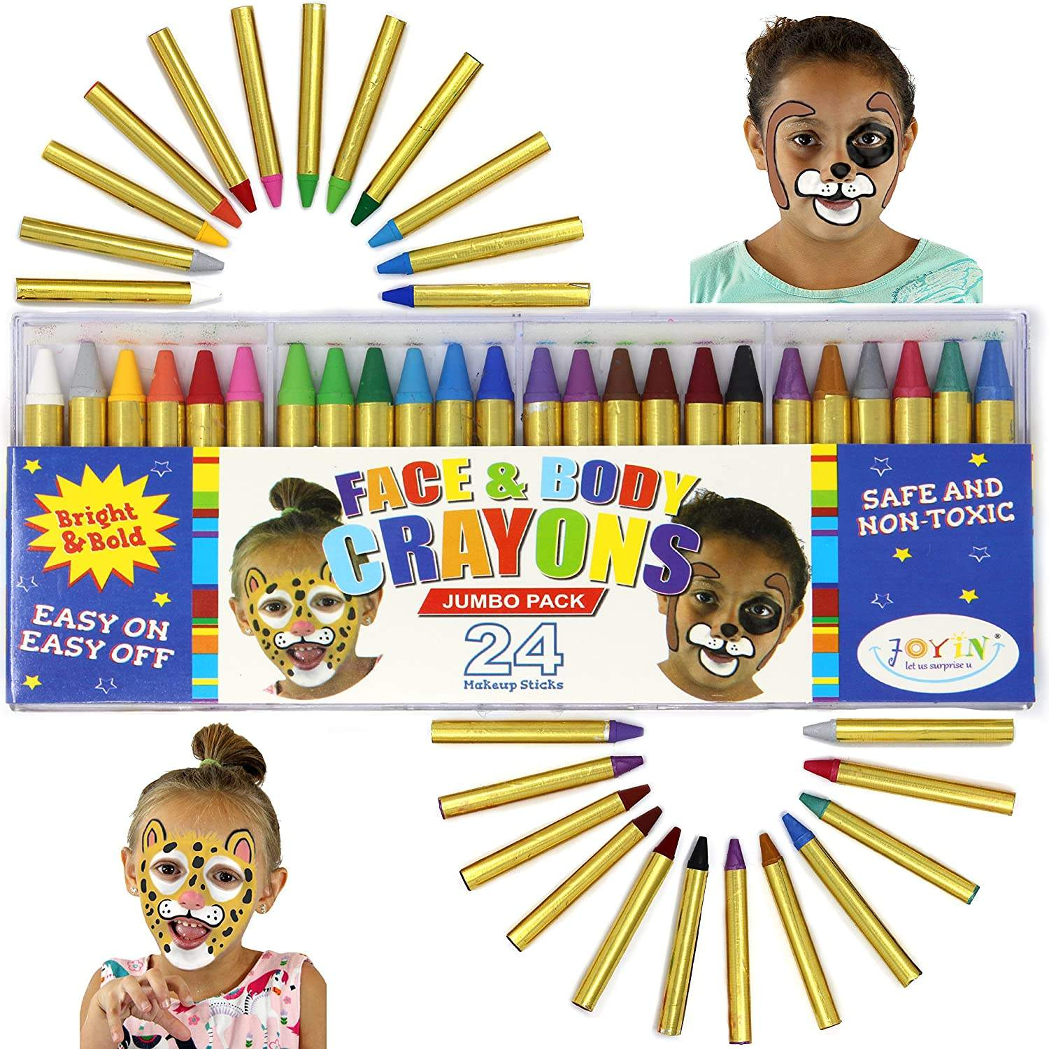 face paint kit for kids stencil stick crayons paint crayon pencil set 16 color 24 colour face body paint pen