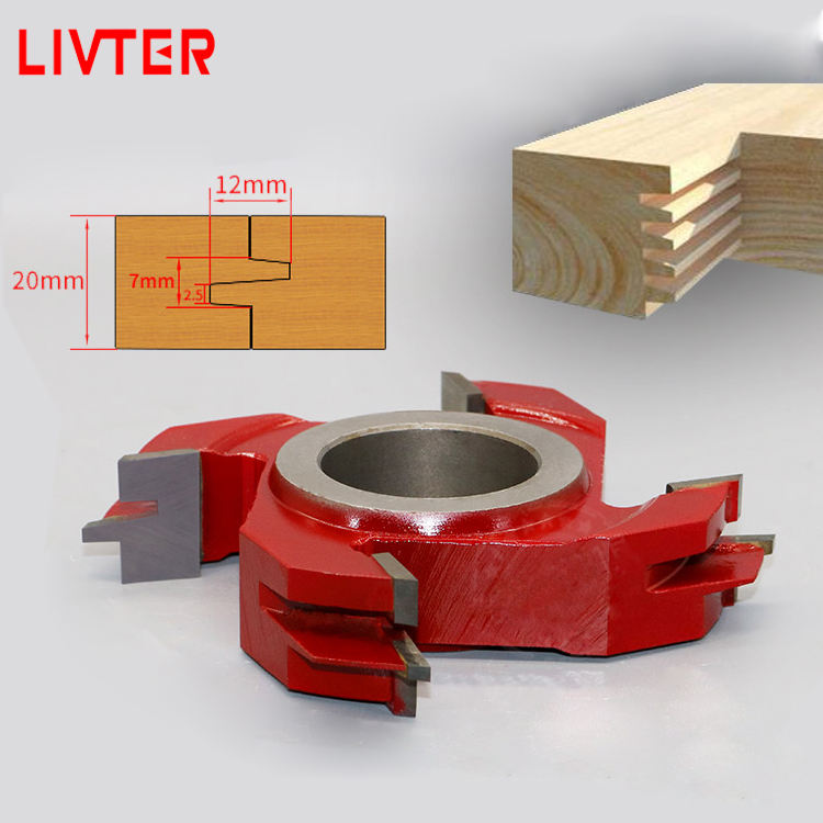 LIVTER Shape Cutter for Door Frame Making Spindle Moulder Cutter 2 pieces/set with TCT Cutter Woodworking Tools