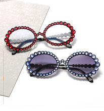 Colorful 2020 New High End Shade Oval Diamond Sunglasses