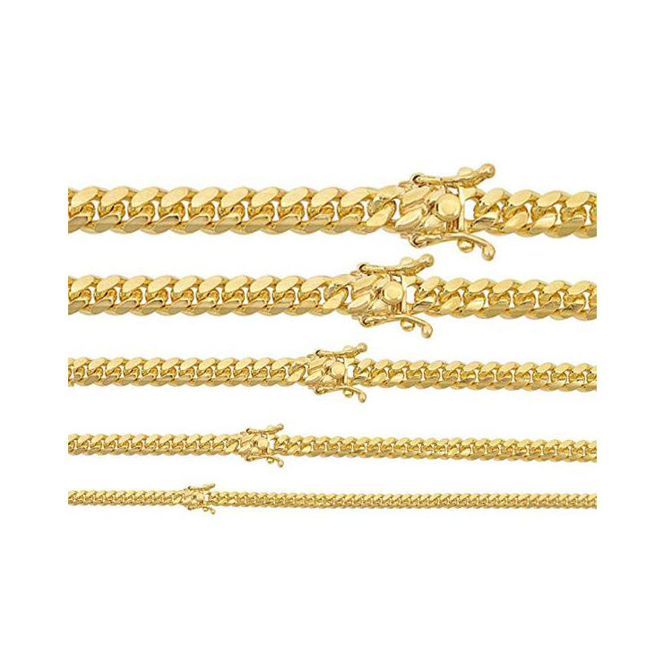 Miami Cuban Link Chain Or Bracelet 4-10.5mm 14k Gold Over Solid 925 Silver Necklaces